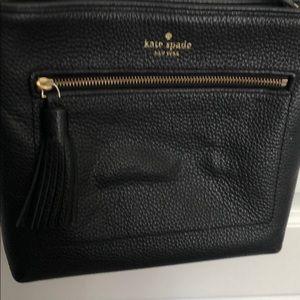 Black Kate Spade cross body purse